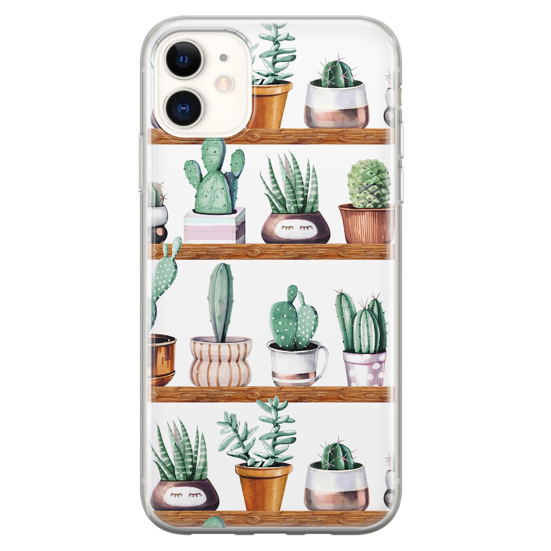 iPhone 11 siliconen hoesje - Cactus