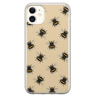 iPhone 11 siliconen hoesje - Bee happy
