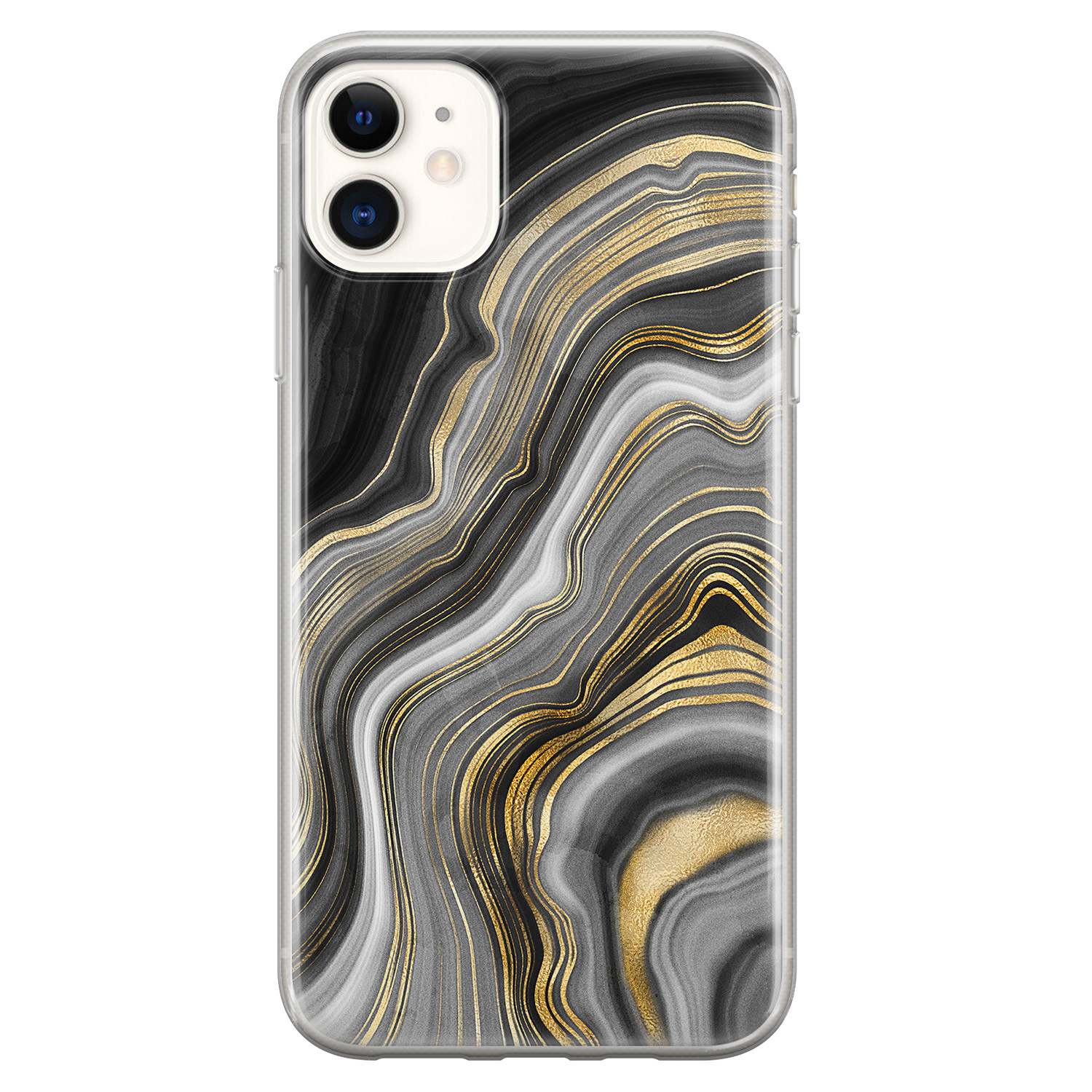 iPhone 11 siliconen hoesje - Golden agate