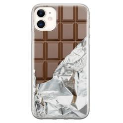 Leuke Telefoonhoesjes iPhone 11 siliconen hoesje - Chocoladereep