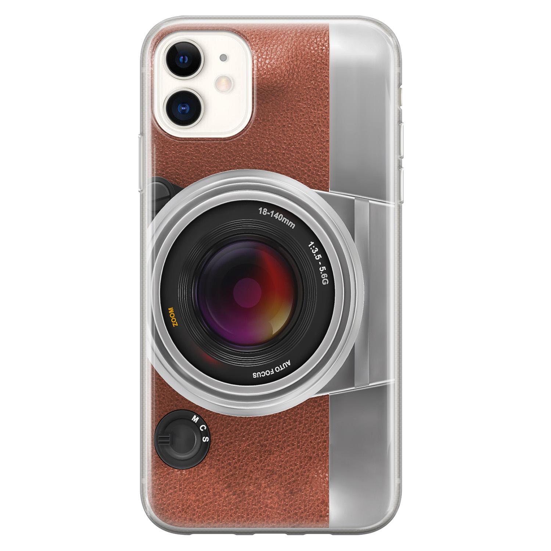 iPhone 11 siliconen hoesje - Vintage camera