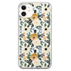 Leuke Telefoonhoesjes iPhone 11 siliconen hoesje - Lovely flower