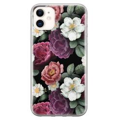 Leuke Telefoonhoesjes iPhone 11 siliconen hoesje - Bloemenliefde