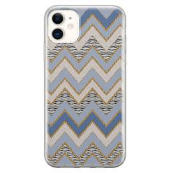 Leuke Telefoonhoesjes iPhone 11 siliconen hoesje - Retro zigzag