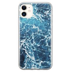 Leuke Telefoonhoesjes iPhone 11 siliconen hoesje - Ocean blue