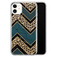 iPhone 11 siliconen hoesje - Luipaard zigzag