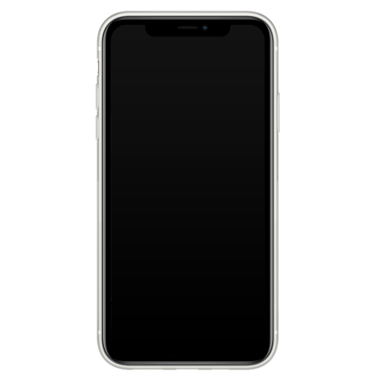 iPhone 11 siliconen hoesje - Marmer blauw