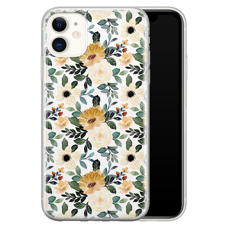 iPhone 11 siliconen hoesje - Lovely flower
