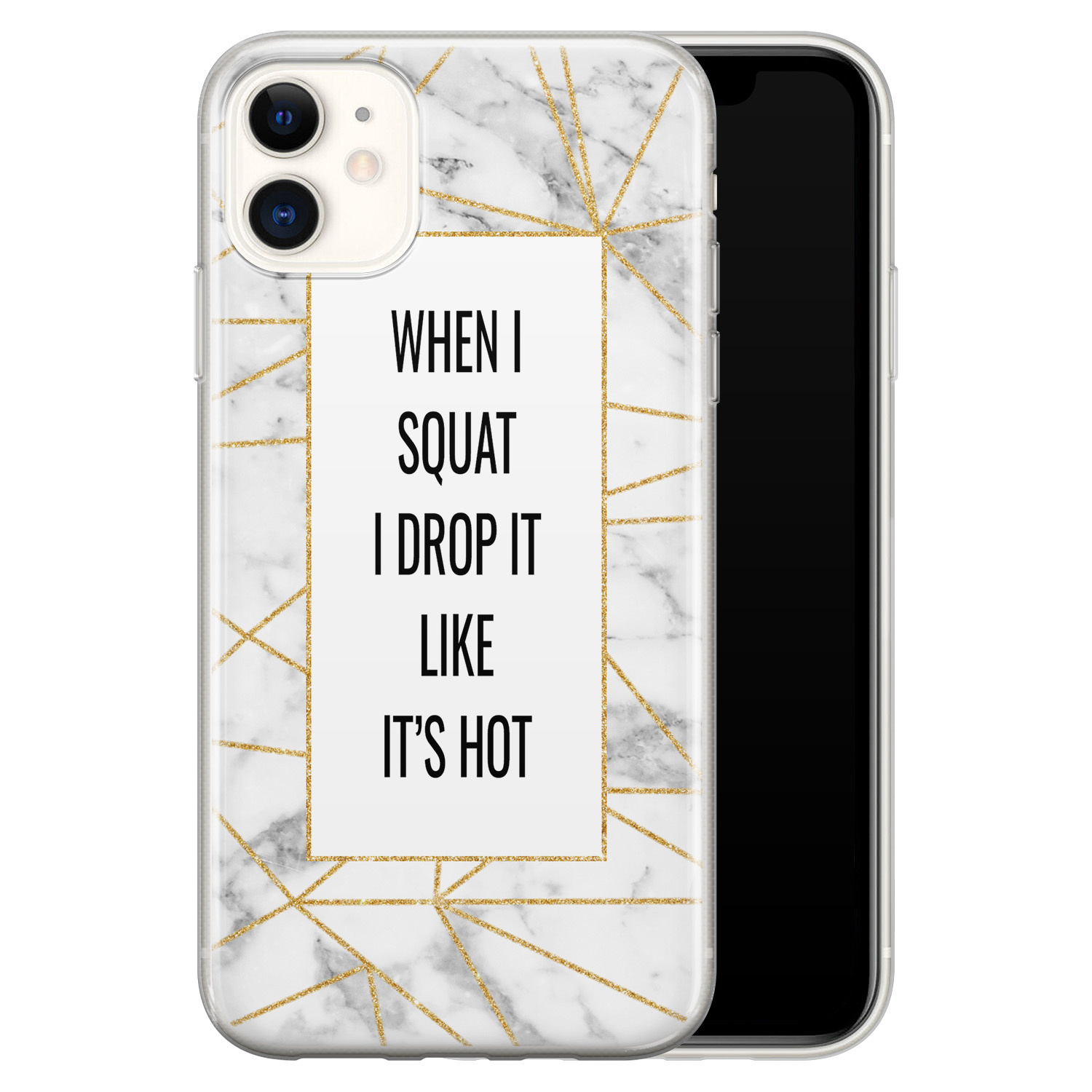 iPhone 11 siliconen hoesje - Dropping squats