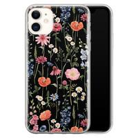 iPhone 11 siliconen hoesje - Dark flowers