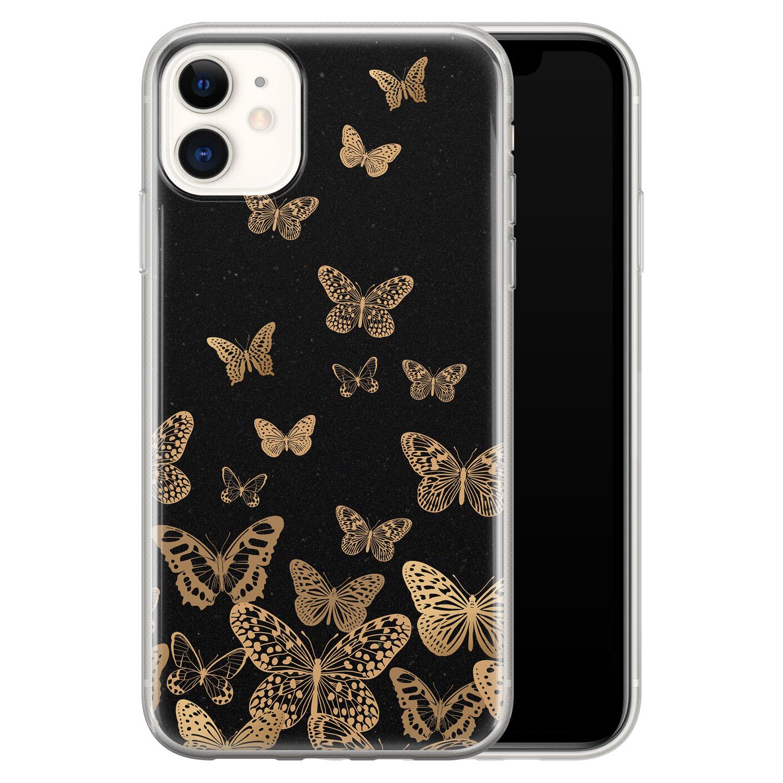 iPhone 11 siliconen hoesje - Vlinders