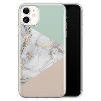 iPhone 11 siliconen hoesje - Marmer pastel mix