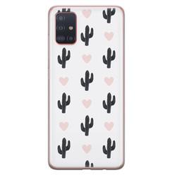 Samsung Galaxy A51 siliconen hoesje - Cactus love
