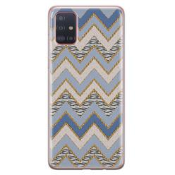 Samsung Galaxy A51 siliconen hoesje - Retro zigzag