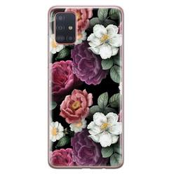 Samsung Galaxy A51 siliconen hoesje - Bloemenliefde