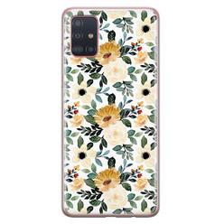 Samsung Galaxy A51 siliconen hoesje - Lovely flower