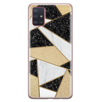 Samsung Galaxy A51 siliconen hoesje - Goud abstract