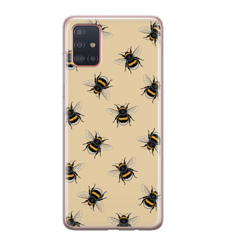 Samsung Galaxy A51 siliconen hoesje - Bee happy