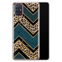 Samsung Galaxy A51 siliconen hoesje - Luipaard zigzag