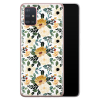 Samsung Galaxy A51 siliconen hoesje - Lovely flower
