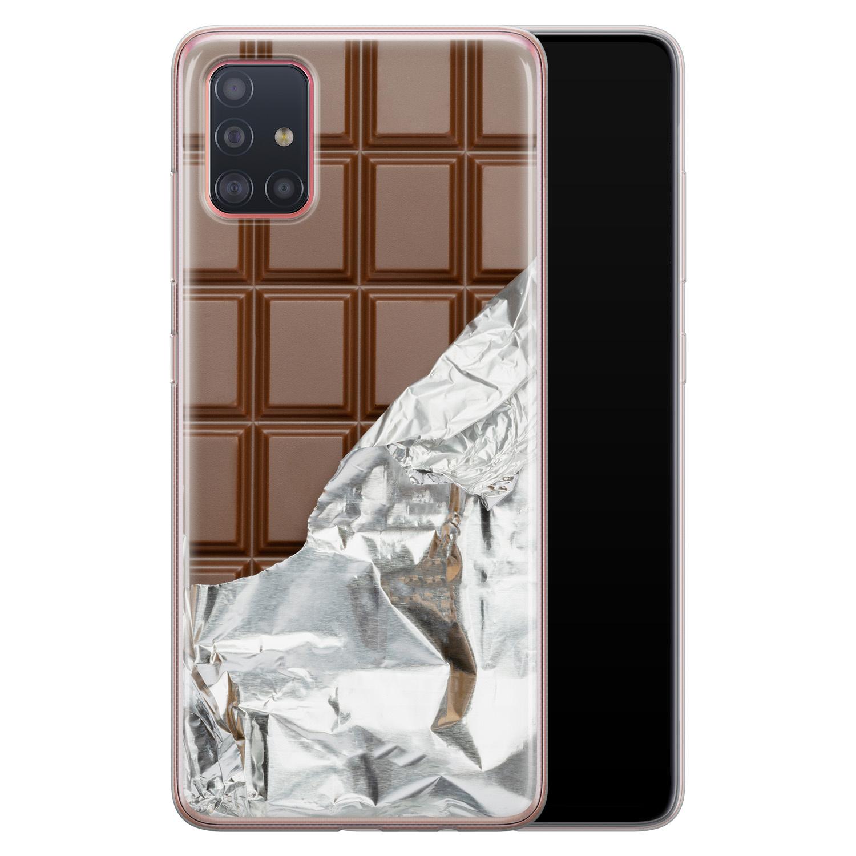 Samsung Galaxy A51 siliconen hoesje - Chocoladereep