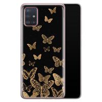Samsung Galaxy A51 siliconen hoesje - Vlinders