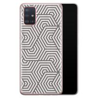Samsung Galaxy A51 siliconen hoesje - Geometrisch