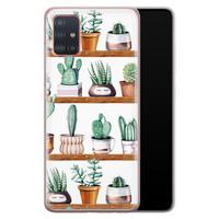 Samsung Galaxy A51 siliconen hoesje - Cactus