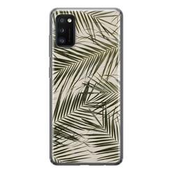 Leuke Telefoonhoesjes Samsung Galaxy A41 siliconen hoesje - Leave me alone