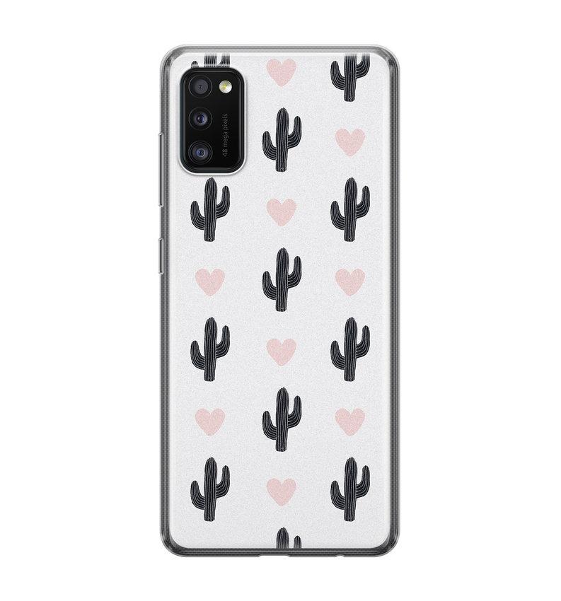 Samsung Galaxy A41 siliconen hoesje - Cactus love