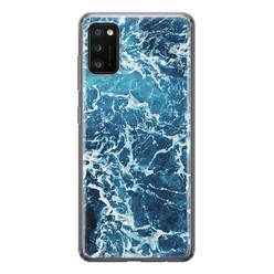Leuke Telefoonhoesjes Samsung Galaxy A41 siliconen hoesje - Ocean blue