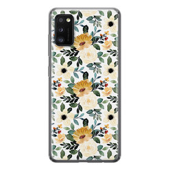 Samsung Galaxy A41 siliconen hoesje - Lovely flower