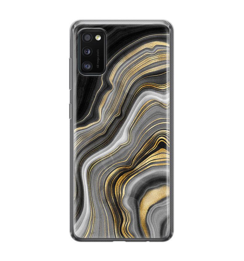 Samsung Galaxy A41 siliconen hoesje - Golden agate