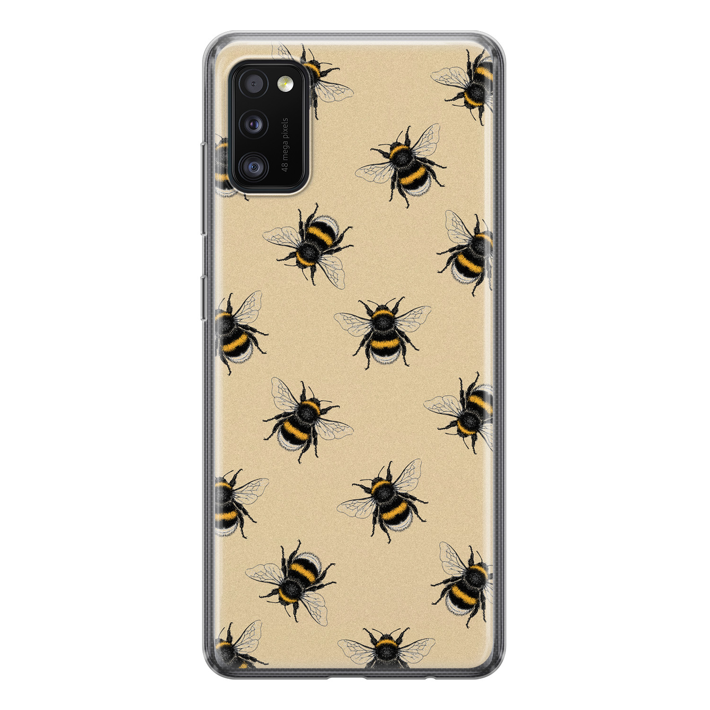 Samsung Galaxy A41 siliconen hoesje - Bee happy