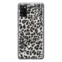 Samsung Galaxy A41 siliconen hoesje - Luipaard grijs