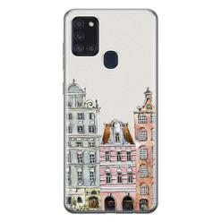 Leuke Telefoonhoesjes Samsung Galaxy A21s siliconen hoesje - Grachtenpandjes