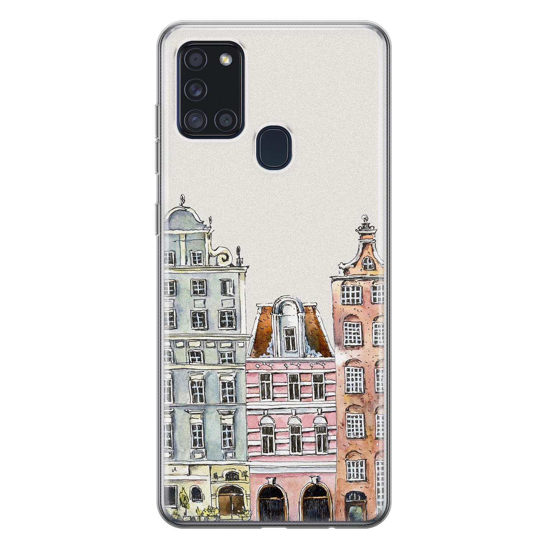 Samsung Galaxy A21s siliconen hoesje - Grachtenpandjes