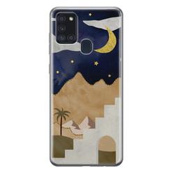 Leuke Telefoonhoesjes Samsung Galaxy A21s siliconen hoesje - Desert night