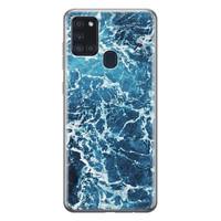 Samsung Galaxy A21s siliconen hoesje - Ocean blue