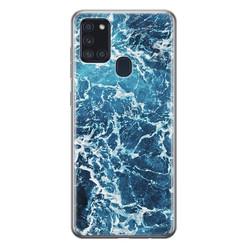 Leuke Telefoonhoesjes Samsung Galaxy A21s siliconen hoesje - Ocean blue