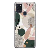 Samsung Galaxy A21s siliconen hoesje - Abstract print