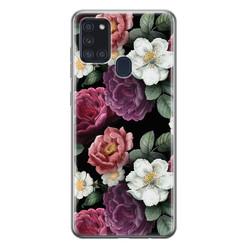 Leuke Telefoonhoesjes Samsung Galaxy A21s siliconen hoesje - Bloemenliefde