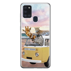 Leuke Telefoonhoesjes Samsung Galaxy A21s siliconen hoesje - Wanderlust