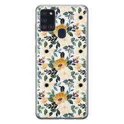 Leuke Telefoonhoesjes Samsung Galaxy A21s siliconen hoesje - Lovely flower