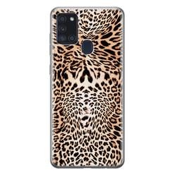 Leuke Telefoonhoesjes Samsung Galaxy A21s siliconen hoesje - Wild animal