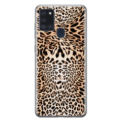 Samsung Galaxy A21s siliconen hoesje - Wild animal