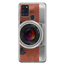 Samsung Galaxy A21s siliconen hoesje - Vintage camera