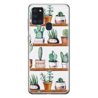 Samsung Galaxy A21s siliconen hoesje - Cactus