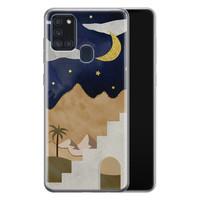 Samsung Galaxy A21s siliconen hoesje - Desert night