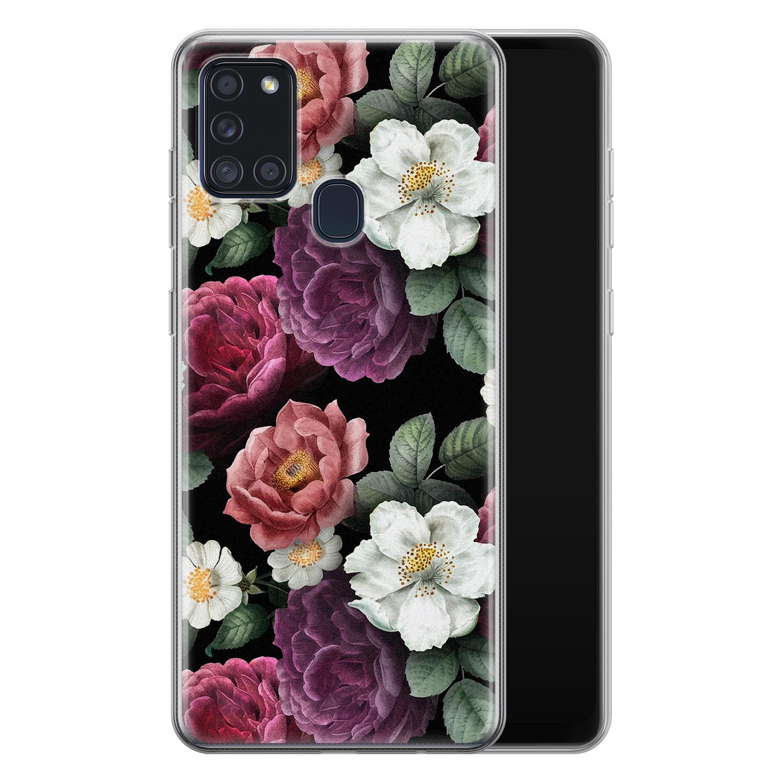 Samsung Galaxy A21s siliconen hoesje - Bloemenliefde